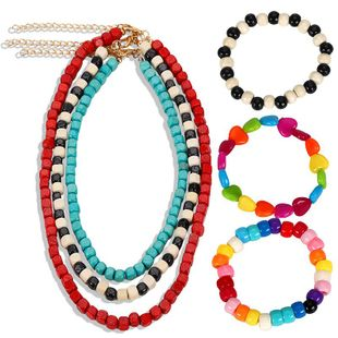 Womens Plastic Colorful gemstone jewelry set NHJQ124094's discount tags