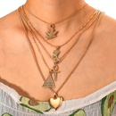 Womens heartshaped electroplated alloy Necklaces NHGY123998