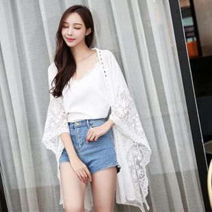 Sexy Loose Beach Jacket Cardigan Swimsuit with Bikini Blouse NHXW124138's discount tags