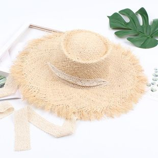 Xia Xiaoqing lace with seaside hat NHXO124151's discount tags
