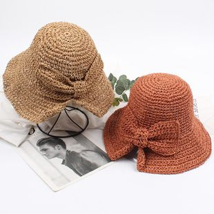 Trendy straw holiday travel sunhat NHXO124163's discount tags