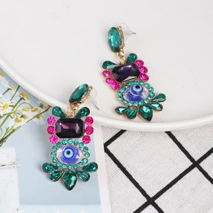 Womens Eye Rhinestone Alloy Earrings NHJJ124308's discount tags