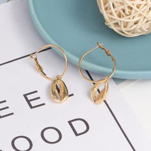 Womens Shell Plating Alloy Earrings NHJJ124314's discount tags