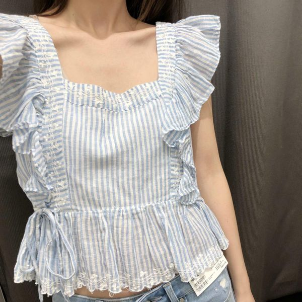 Summer country style striped women s vest NHAM124325