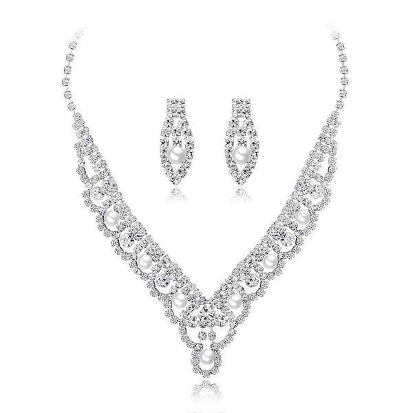 Womens Electroplated Copper Europe and America Jewelry Sets NHDR124780