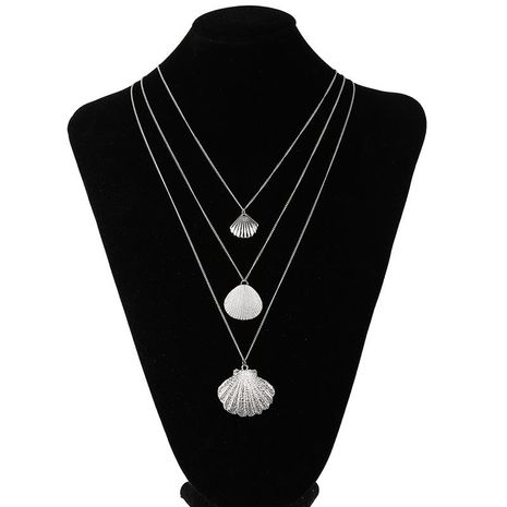 Explosion models seashell multi-layer long section plating alloy Necklaces NHSD124844's discount tags