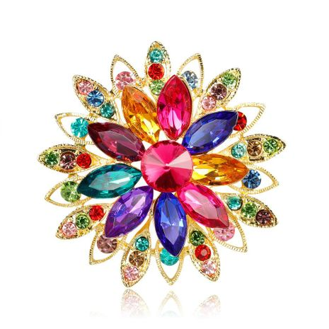 Womens Floral Plating Alloy Danrun Jewelry Brooches NHDR124861's discount tags