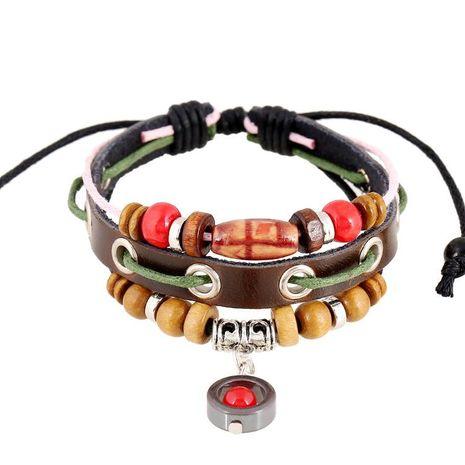 Unisex geometric leather Bracelets & Bangles NHPK124866's discount tags
