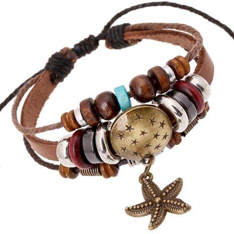 Fashionable versatile beaded leather Bracelets & Bangles NHPK124869's discount tags
