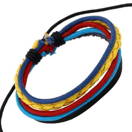 Unisex geometric leather Bracelets & Bangles NHPK124874's discount tags