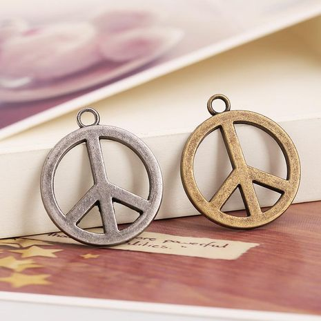 Fashion bronze peace sign alloy necklace accessories NHPK124878's discount tags