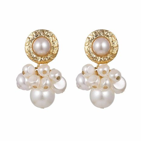 Vintage embossed luxury beads Electroplating Alloy Earrings NHSD124909's discount tags