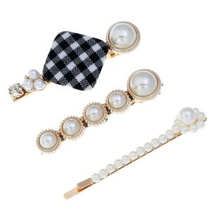 Womens geometric Beads metal plating alloy Hair Accessories NHVA124921's discount tags