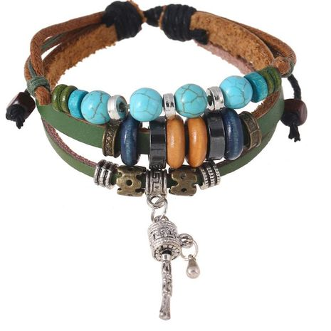 Unisex geometric leather Bracelets & Bangles NHPK124922's discount tags