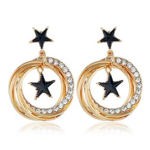Womens Geometry Electroplating Alloy Earrings NHVA124930's discount tags