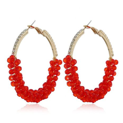Womens U-shaped plating alloy Earrings NHVA124939's discount tags
