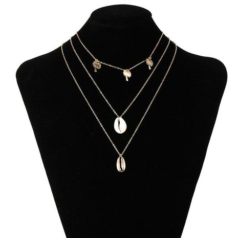 Womens geometric Coconut tree plating alloy Necklaces NHSD124941's discount tags
