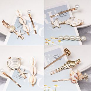 Womens Starfish Shell Beads Conch Shell Mix Material Hair Accessories NHJJ124949's discount tags