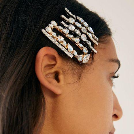 Womens Geometric Rhinestone Alloy Hair Accessories NHJJ124950's discount tags