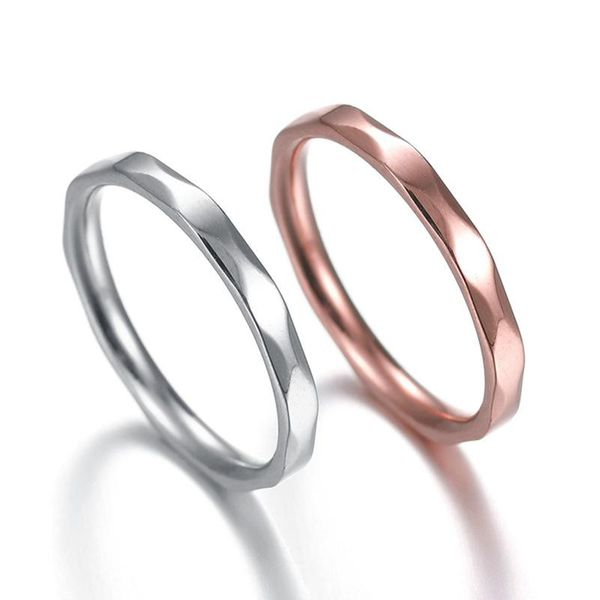 Couple Style Geometric Stainless Steel Rings NHHF124957