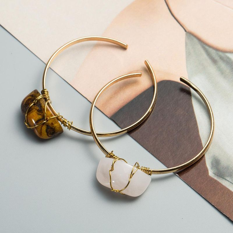 Womens geometric plating alloy Bracelets & Bangles NHJE124960