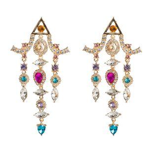 Womens Fringe Studded tassel Acrylic Earrings NHJE124967's discount tags