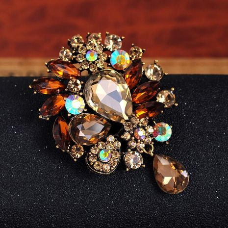 Chapado floral unisex Broches de aleación de flores vintage DR190505120149's discount tags