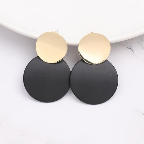Womens Geometry Geometric circle black  Electroplating Alloy Earrings JJ190505120185's discount tags