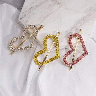 Womens Heart-Shaped Wind candy color rhinestone  Beads Hair Accessories JJ190505120191's discount tags