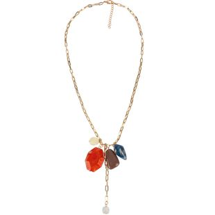 Womens teardrop-shaped plated aluminum T-stage Necklaces CT190505120193's discount tags
