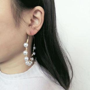 Womens Geometric Temperament fashion beads Earrings JJ190505120195's discount tags