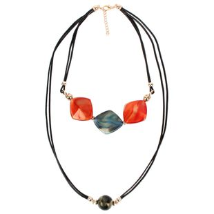 Womens Geometric Plastic  Resin T Series Necklaces CT190505120197's discount tags
