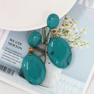 Womens Leaf  Fashion retro minimalism Plastic  Resin  Earrings JJ190505120198's discount tags