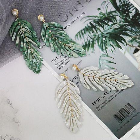 Womens Leaf Retro light luxury Plastic  Resin  Earrings JJ190505120200's discount tags