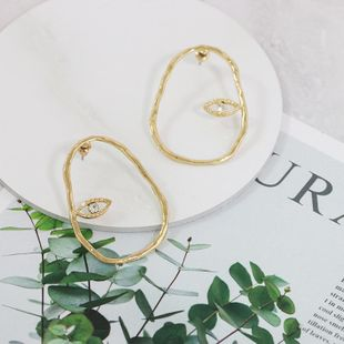Womens Geometry Electroplating Alloy Hollow Earrings JJ190505120202's discount tags