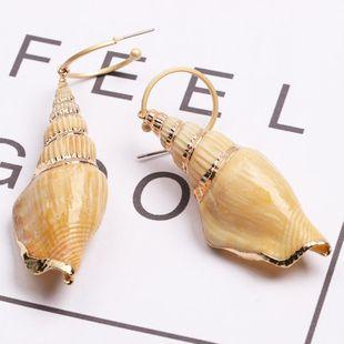 Womens Shell  Fashion literary retro conch Seashell Earrings JJ190505120204's discount tags