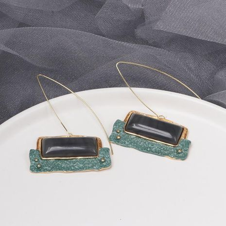 Womens Geometry Electroplating Palace wind is old  Alloy  Earrings JJ190505120205's discount tags