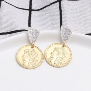 Womens Geometry  Long section Electroplating Alloy Earrings JJ190505120208's discount tags