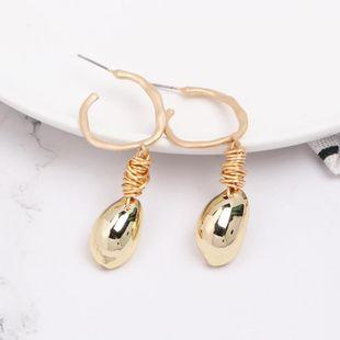 Womens  Fashion Shell Seashell Earrings JJ190505120209's discount tags