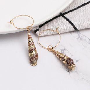 Womens Shell Fashion  Seashell Earrings JJ190505120210's discount tags