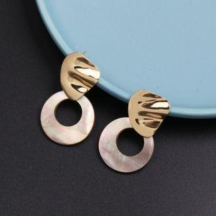 Womens  Fashion Shell Seashell Earrings JJ190505120211's discount tags