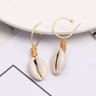 Womens Shell Fashionable shellfish  Seashell Earrings JJ190505120215's discount tags