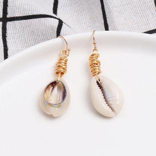 Womens Shell fashion  Seashell Earrings JJ190505120218's discount tags