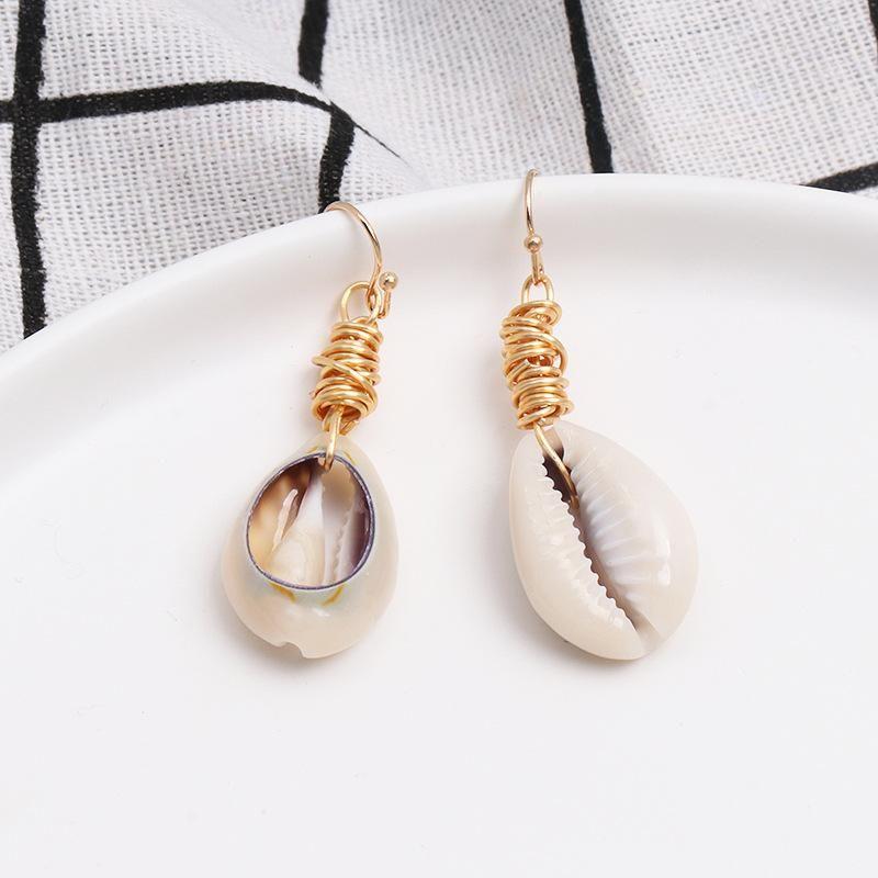 Womens Shell fashion  Seashell Earrings JJ190505120218