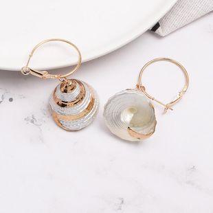 Womens Shell Fashionable shellfish Seashell Earrings JJ190505120221's discount tags