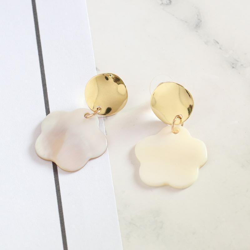 Womens Shell  Ocean wind Seashell Earrings JJ190505120223
