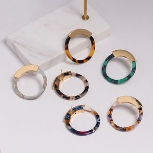 Womens O-Shaped Leopard Plastic Resin Earrings JJ190505120224's discount tags