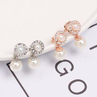 Womens teardrop-shaped beads alloy Earrings JJ190505120225's discount tags