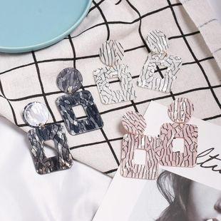 Womens Geometric fashion  Plastic  Resin Earrings JJ190505120228's discount tags