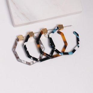Womens C-shaped plastic / resin Earrings JJ190505120230's discount tags